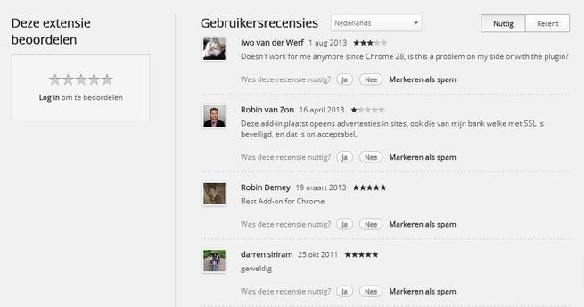 Recensies Smooth Gestures, Chrome-extensie met ads
