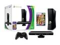 Goedkoopste Microsoft Xbox 360 Slim 4GB + Kinect Adventures + Kinect Zwart