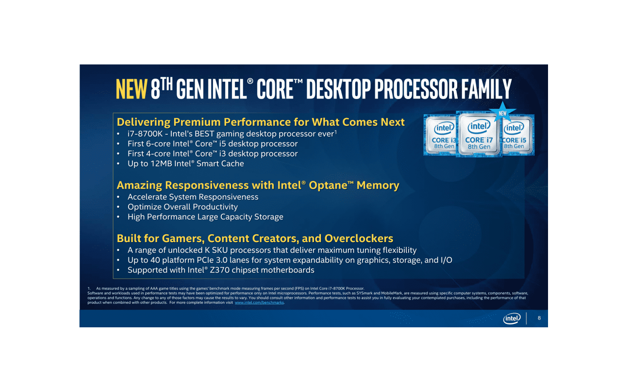 Intel Coffee Lake pressdeck