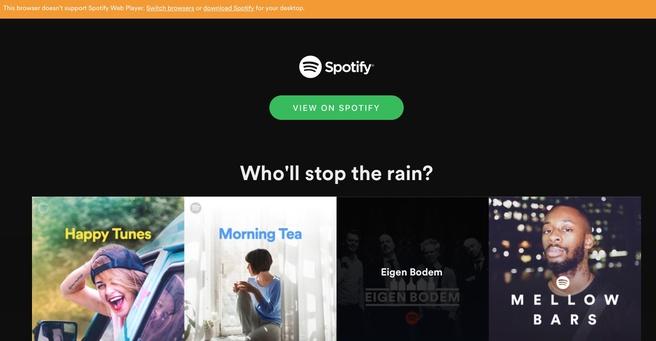 Spotify Safari