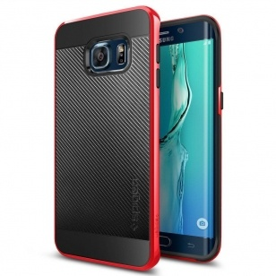 Spigen Neo Hybrid Carbon Samsung Galaxy S6 edge Plus Case - SGP11706 - Dante Red