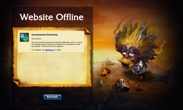 website offline