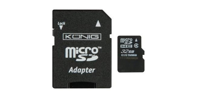 Konig microSDHC Class 4 + SD adapter 32GB