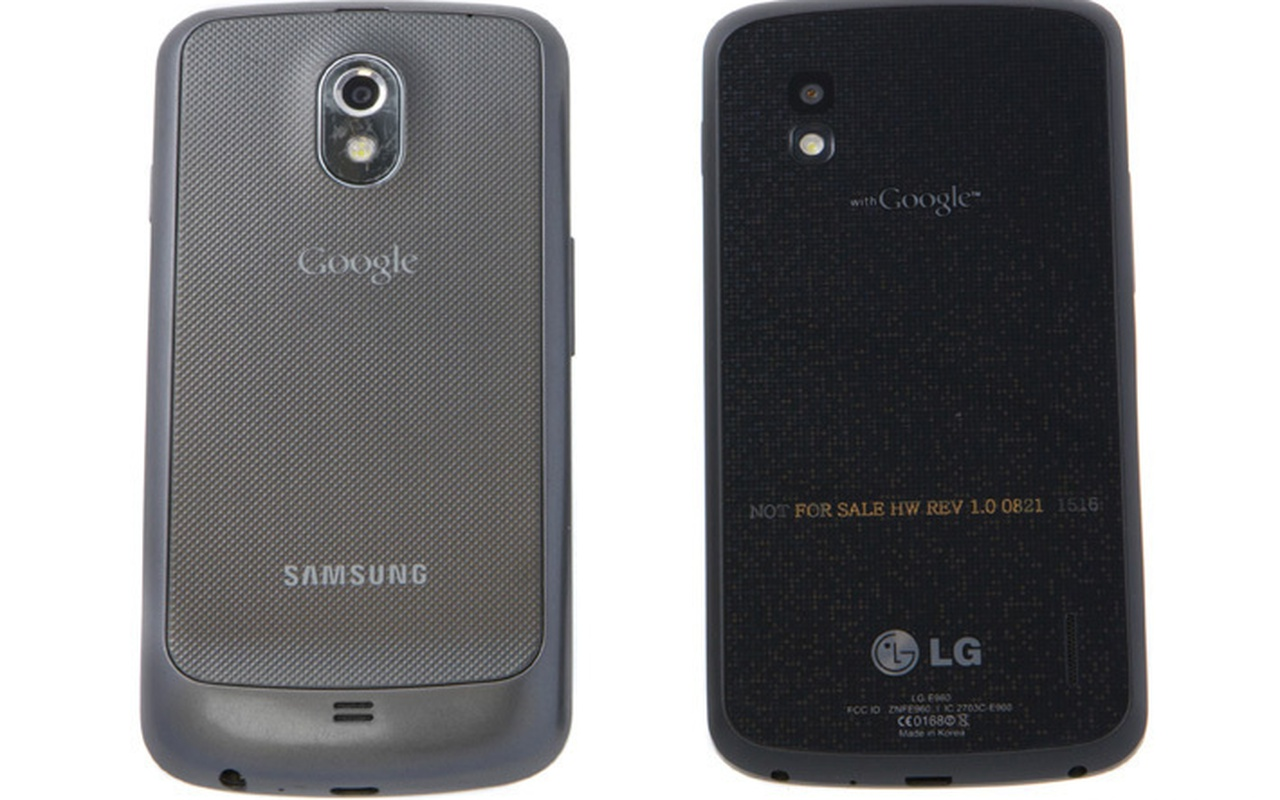 Links: Galaxy Nexus, rechts: LG Nexus 4