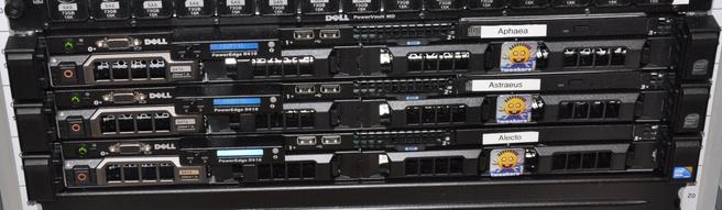 Dell R410-vooraanzicht in actie