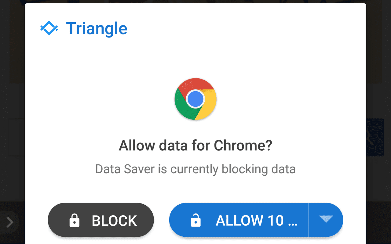 Google Triangle databesparing-vpn