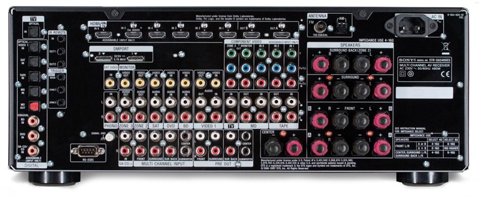 Sony STR-DA5400ES - Specificaties