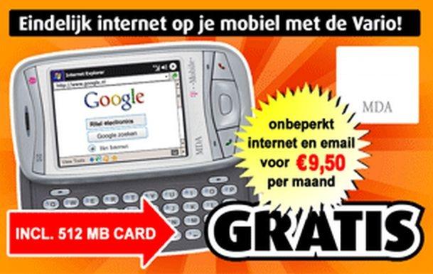 Advertentie gratis telefoon smartphone