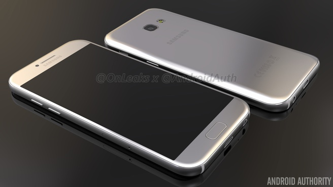 Renders OnLeaks van Samsung Galaxy A5 2017