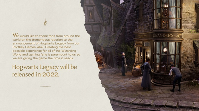 Hogwarts Legacy is uitgesteld