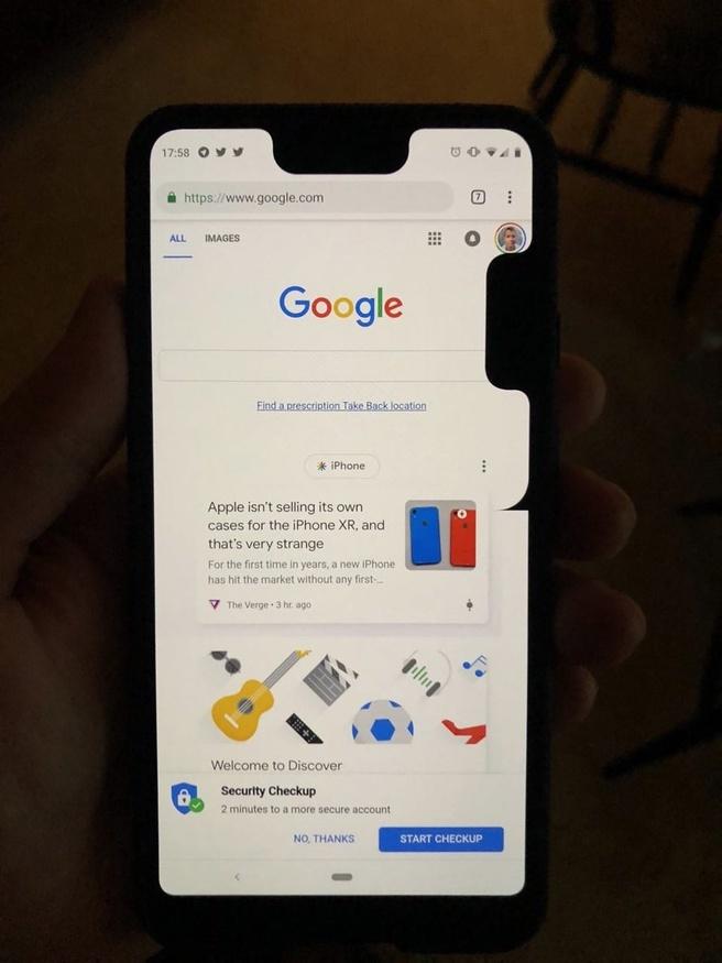 Google Pixel 3 XL tweede notch