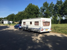 V40 met caravan