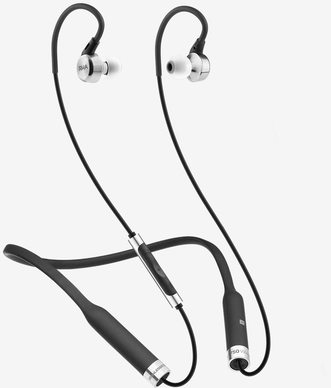 RHA MA750 Wireless Draadloze oordopjes (Zilver, Zwart)
