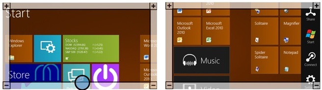 Vergrootglas-functie in Windows 8