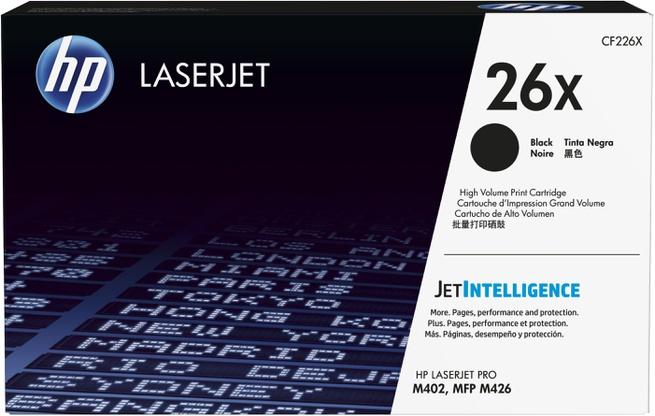 HP 26X - Hoog rendement - zwart - origineel - LaserJet -