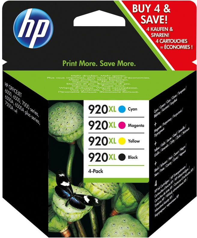 HP 920XL Combo-pack Black/Cyan/Magenta/Yellow