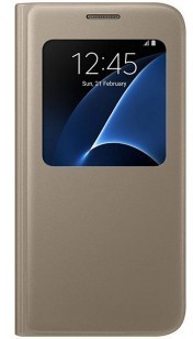 Samsung Galaxy S7 S-View Cover - EF-CG930PF - Gold