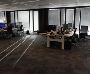Kantoor uitzicht en werkplek ICT