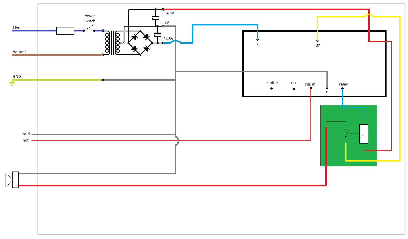 Amplimo A60 aansluit schema