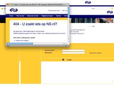 404 - U zoekt iets op NS.nl?