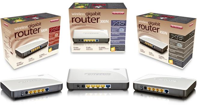Sitecom Pure E-motion X-serie 2.0 modem- en routerlijn