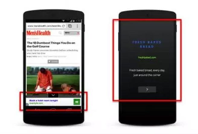 Google fullscreen mobiel ad