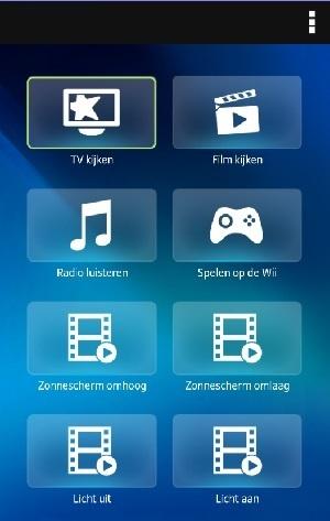 Harmony App start in het activiteiten scherm