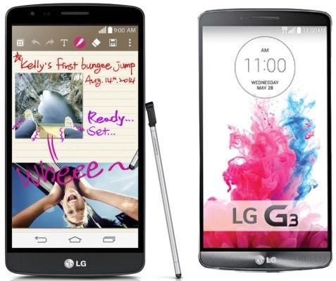 LG G3 Stylus naast LG G3