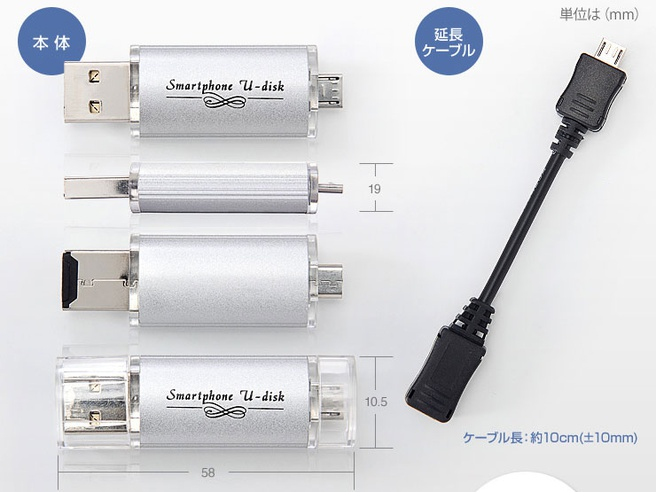 Sanwa dual-usb-drive