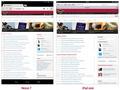 Vergelijking van websites op de iPad mini en Nexus 7
