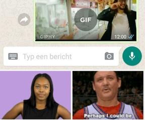 WhatsApp Giphhy-zoekfunctie