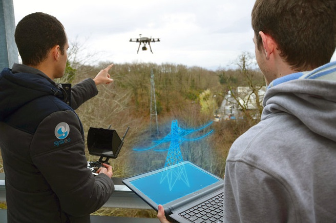 Augmented reality drones