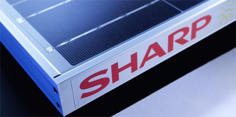 Sharp zonnecellen
