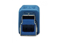 Techly USB 3.0 Cable A male / B male 1 m Blue ICOC U3-AB-10-BL