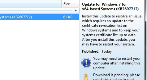 Windows-update DigiNotar