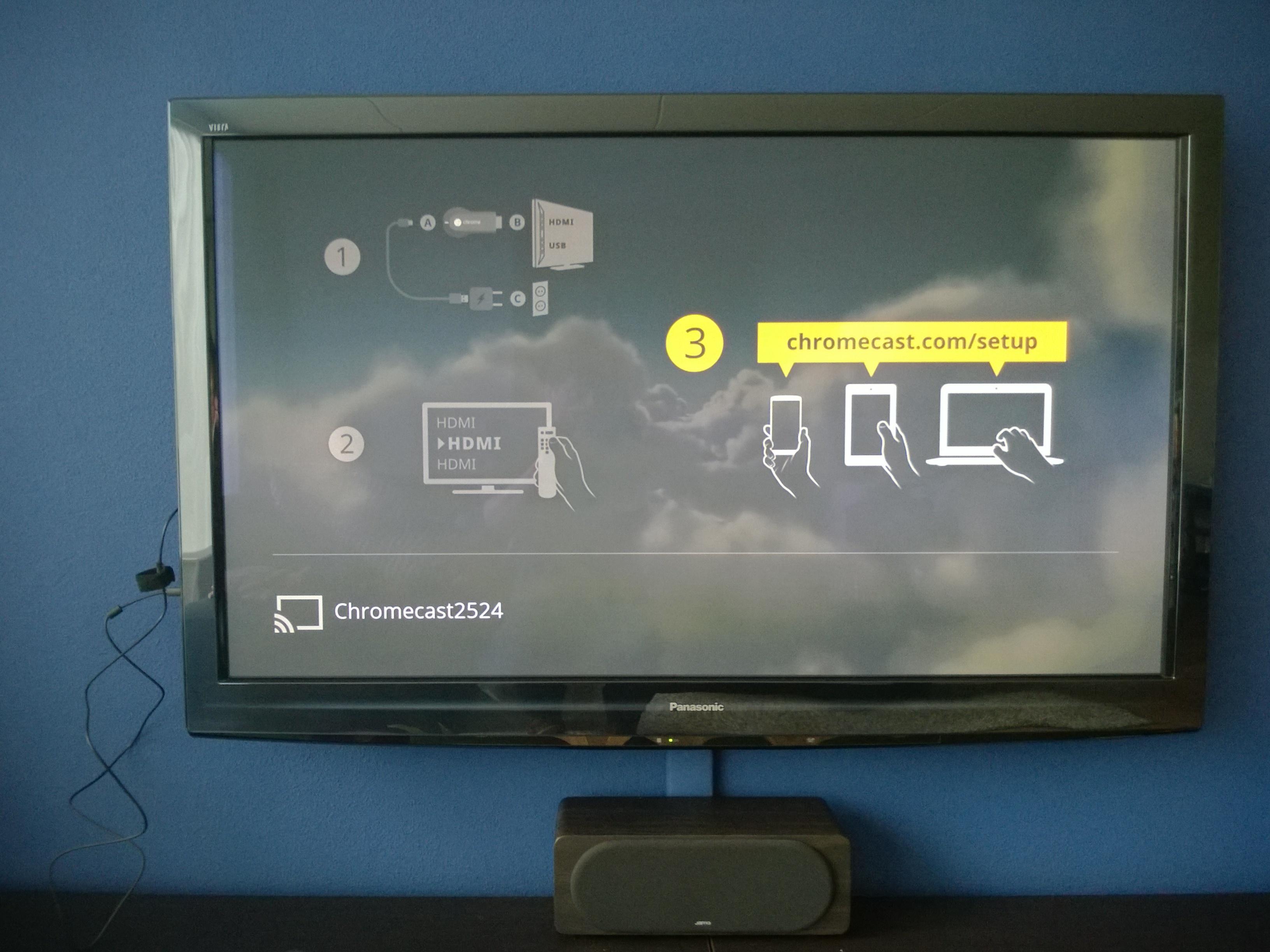Chromecast aangesloten 2