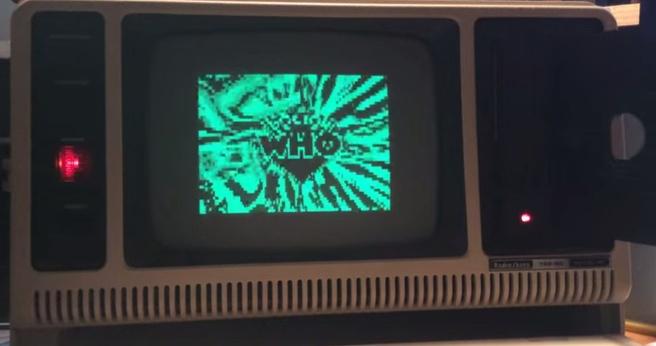 Pc uit 1983 speelt aflevering Doctor Who af