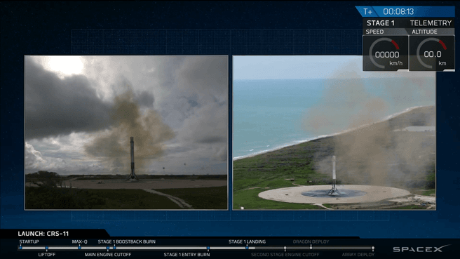 SpaceX CRS-11 lancering