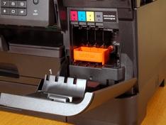 Inktcompartiment schuin van voren