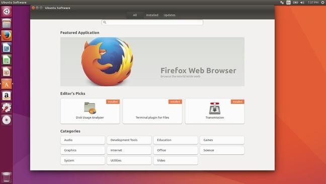 Ubuntu 16.10 Software