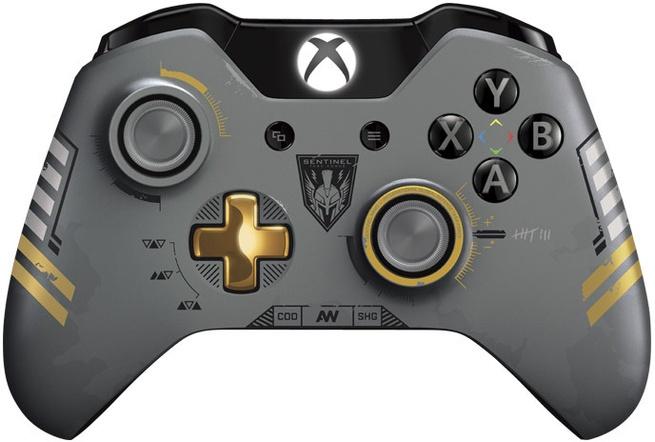 Microsoft Xbox One Wireless Controller - CoD Advanced Warfare Limited Edition - Grijs One Goud, Grijs, Xbox One