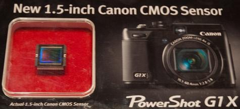 Canon PowerShot G1 X sensor