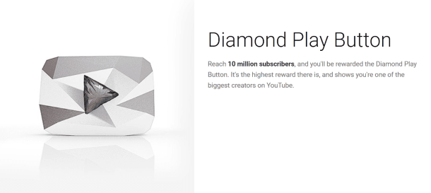 Diamanten Play-knop YouTube