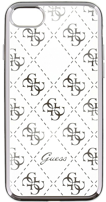 "Guess 4G Folio TPU BackCover voor Apple iPhone 7 (4.7"") - Zilver Zilver"