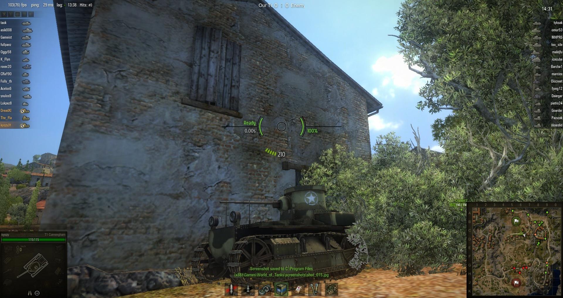 wereld van tanks Scout matchmaking
