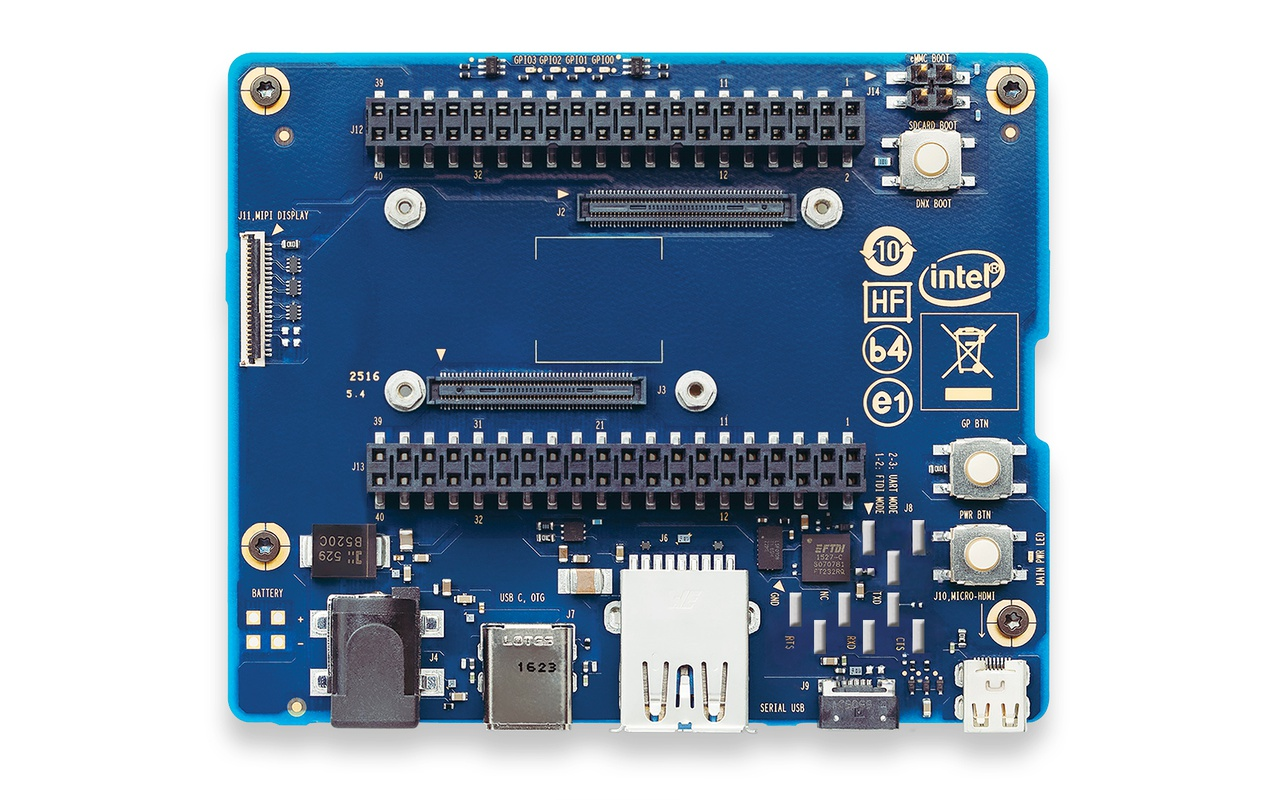 Intel Joule 570x expansion board front