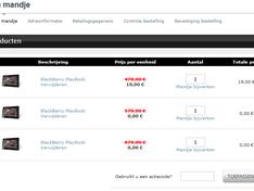 Playbook in RIM webshop