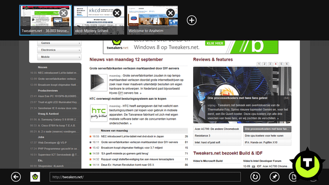 Metro-style IE10 in Windows 8