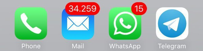 Veel ongelezen mails iOS iPhone (credit: Zeef)