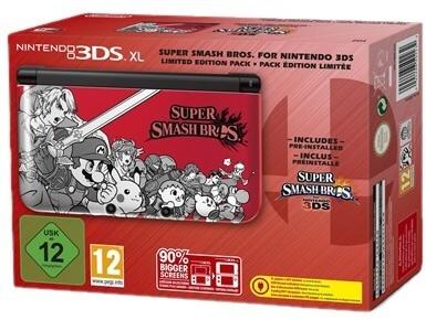 Nintendo 3DS XL + Super Smash Bros. Rood